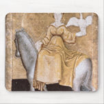Scenes of courtly hawking mouse pad