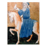 Scenes of courtly hawking postcard