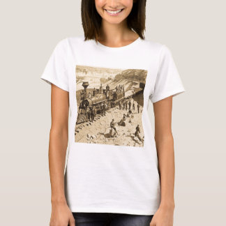 Scenes on the Union Pacific Railroad Sepia T-Shirt
