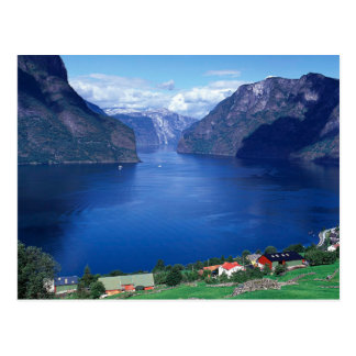Scenic Aurlandsfjord Fjord In Norway Postcard