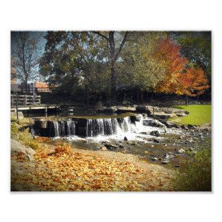 Scenic Autumn Waterfall Nature Landscape Photo