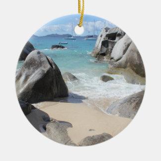 Scenic Beach at The Baths on Virgin Gorda, BVI Christmas Ornament