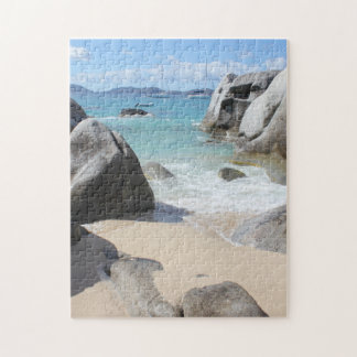 Scenic Beach at The Baths on Virgin Gorda, BVI Jigsaw Puzzle