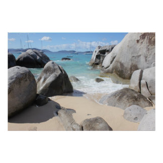 Scenic Beach at The Baths on Virgin Gorda, BVI Poster