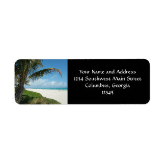 Scenic Beach, Side Palm Branch Return Address Label