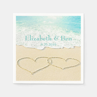 Scenic Beach Wedding Personalized Disposable Napkin