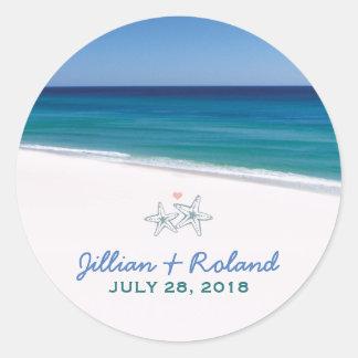 Scenic Beach Wedding Sticker