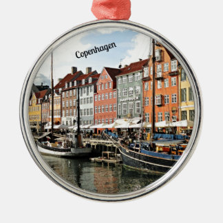 Scenic Canal in Copenhagen Christmas Ornament