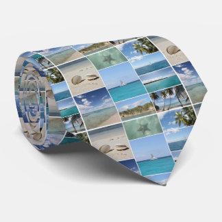 Scenic Caribbean Photo Collage Tie