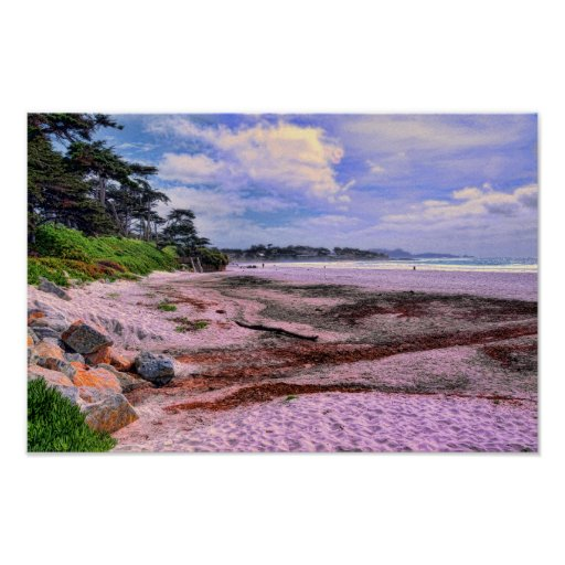 Scenic Carmel Beach Poster