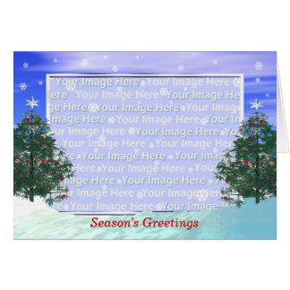 Scenic Christmas Greeting (photo frame) Greeting Card