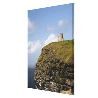 Scenic Cliffs of Moher and O'Brien's Tower. Canvas Print