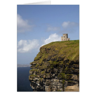 Scenic Cliffs of Moher and O'Brien's Tower. Card