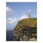 Scenic Cliffs of Moher and O'Brien's Tower. Photograph