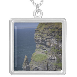 Scenic Cliffs of Moher and O'Brien's Tower Silver Plated Necklace
