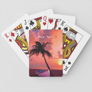 Scenic Coastal Sunset Playing Cards