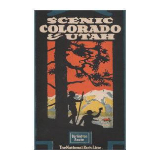 Scenic Colorado & Utah Travel Poster Canvas Print
