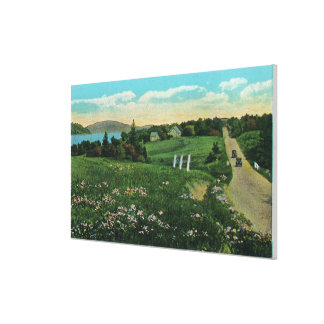 Scenic Country View, Over the Hills and Far Canvas Print