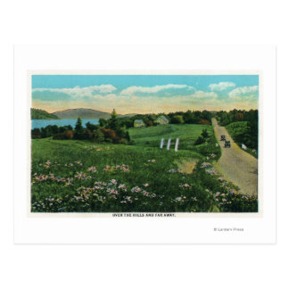 Scenic Country View, Over the Hills and Far Postcard