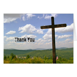 Scenic Cross on a Hill Pastor Appreciation Note Card