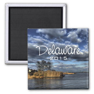 Scenic Delaware USA Fridge Magnet Change Year