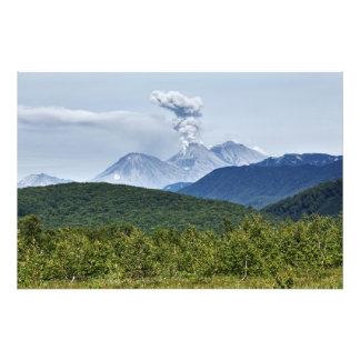 Scenic erupting of Zhupanovsky Volcano. Kamchatka Photo Print