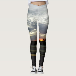 Scenic Evening Sky & Sunset Leggings