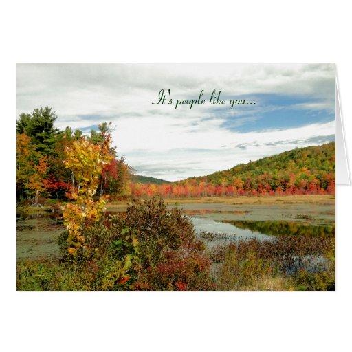 Scenic Fall Custom Volunteer Appreciation Card Zazzle