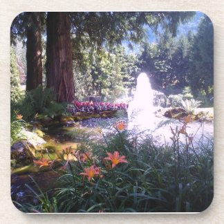 Scenic Garden with Water Fountain Coaster