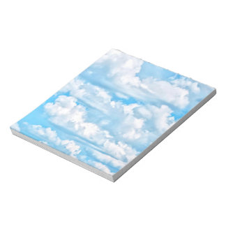 Scenic Happy Sunny Clouds Background Notepad