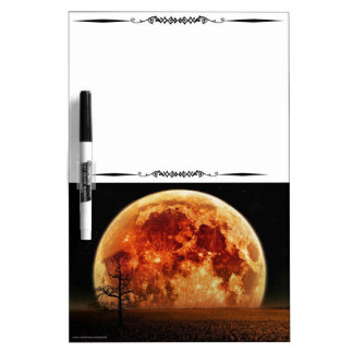 Scenic Harvest Moon Decorative Whiteboard Dry Erase Whiteboards