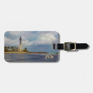 Scenic Hillsboro Inlet Light Personalized Bag Tag