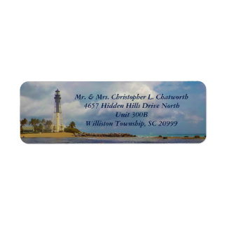 Scenic Hillsboro Inlet Light Personalized Return Address Label