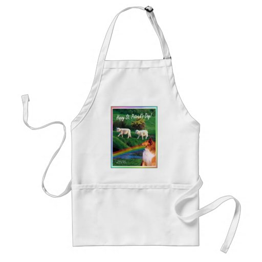 Scenic Ireland Stream with Collie and Sheep Apron