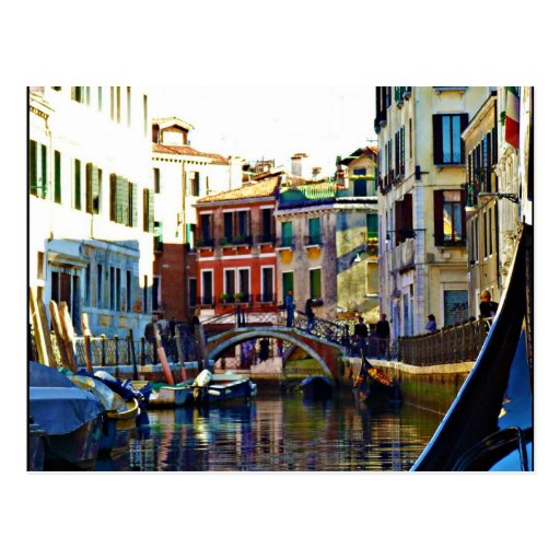 Scenic Italian Gondola Canal Postcards