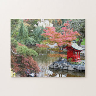 Scenic Japanese Garden Photo Jigsaw Puzzle