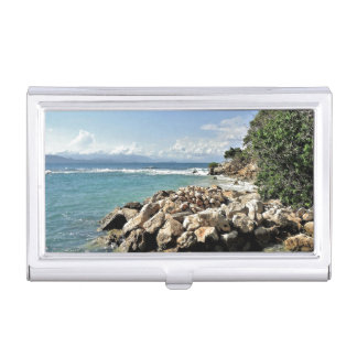Scenic Labadie Coastline Business Card Holder