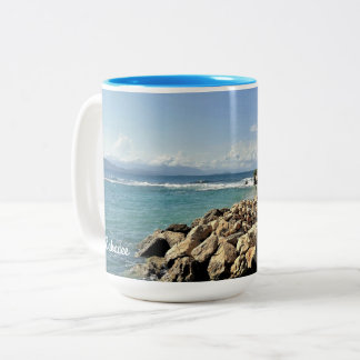 Scenic Labadie Coastline Two-Tone Coffee Mug