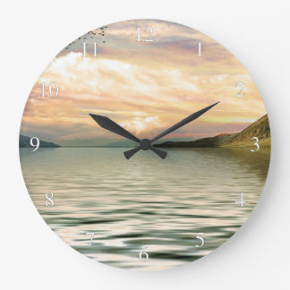 Scenic Lake Large Clock