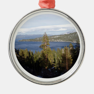 Scenic Lake Tahoe Deluxe Christmas Ornament