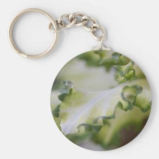 scenic leaf basic round button key ring