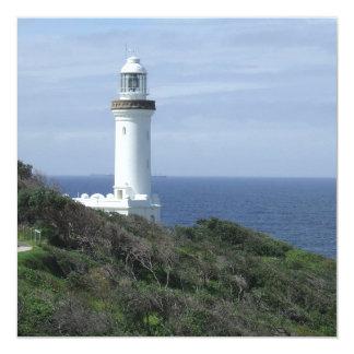 Scenic Lighthouse 13 Cm X 13 Cm Square Invitation Card