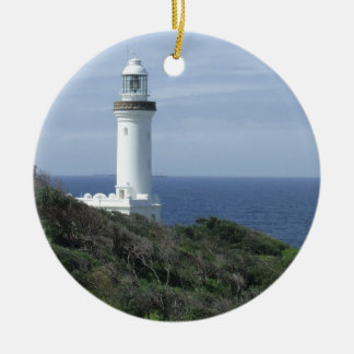 Scenic Lighthouse Christmas Ornament