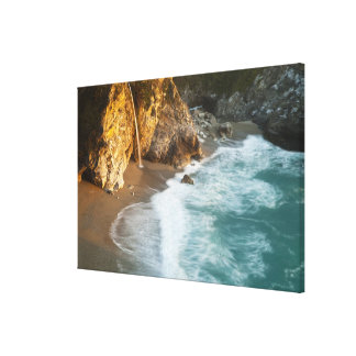 Scenic McWay Falls tumbles into the beach and 2 Canvas Print