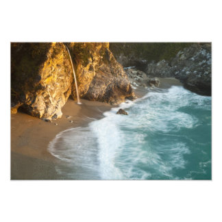 Scenic McWay Falls tumbles into the beach and 2 Photographic Print