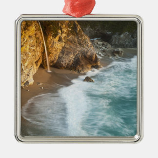 Scenic McWay Falls tumbles into the beach and Christmas Ornament