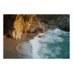 Scenic McWay Falls tumbles into the beach and Poster