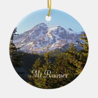 Scenic Mount Rainier Photo Ceramic Ornament