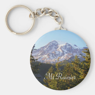 Scenic Mount Rainier Photo Key Ring