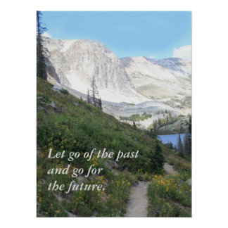 Scenic Mountain Path Inspirational Poster